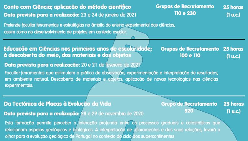 Centro de Formação do Centro Ciência Viva de Estremoz – Ações 2020/2021