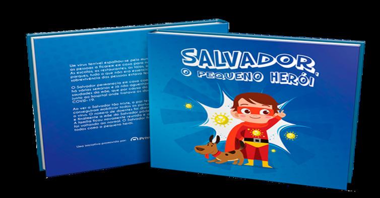 Capa e contracapa Salvador, pequeno herói